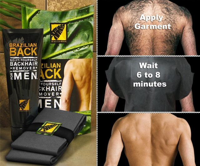 Brazilian Back Male Hair Removal System | DudeIWantThat.com--- hahahahahahahaha!