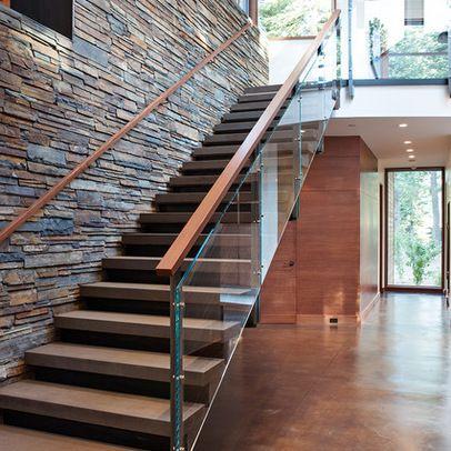 stairs, glass, stone