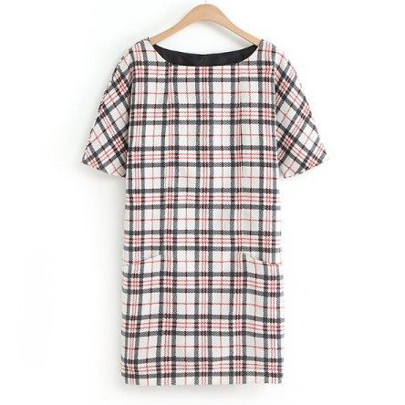 Addison Check Print Shift Dress $55.00 http://www.helloparry.com/collections/new-arrival/products/addison-check-print-shift-dress