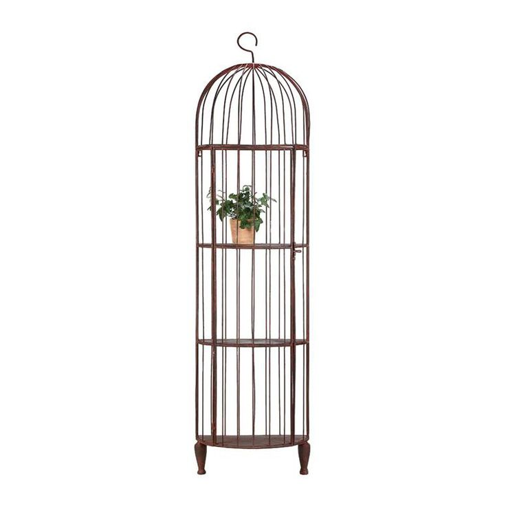 Antiqued Birdcage Bookshelf   dotandbo.com