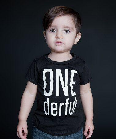 Look what I found on #zulily! Black 'One-derful' Tee - Infant #zulilyfinds