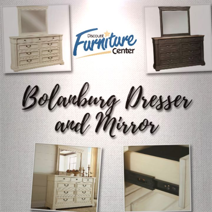 Best Bolanburg Two Tone Dresser Mirror Straight Line 400 x 300