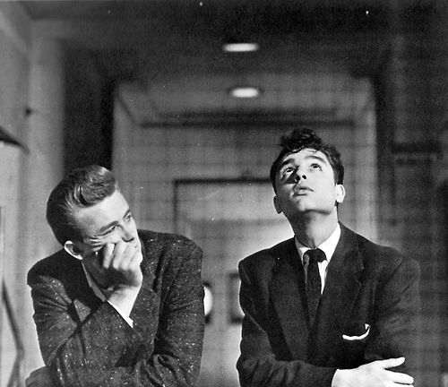 James Dean and Sal Mineo