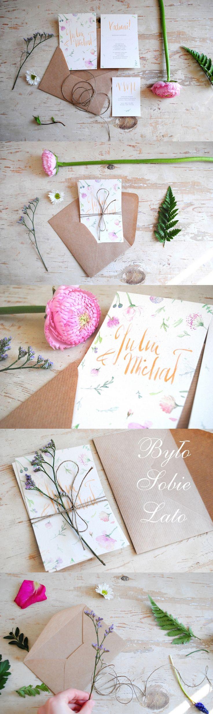 summer wedding invitations with calligraphy #weddinginvitations