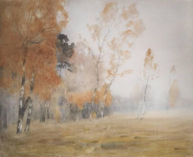 Mist. Autumn. - Isaac Levitan