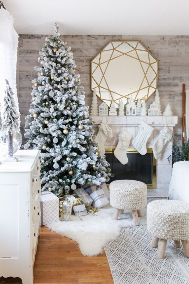 Winter Wonderland Farmhouse/Cottage Christmas Home Tour