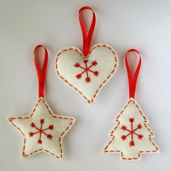 Kreatív karácsony: varrjunk filc díszeket a fára!   Életszépítők