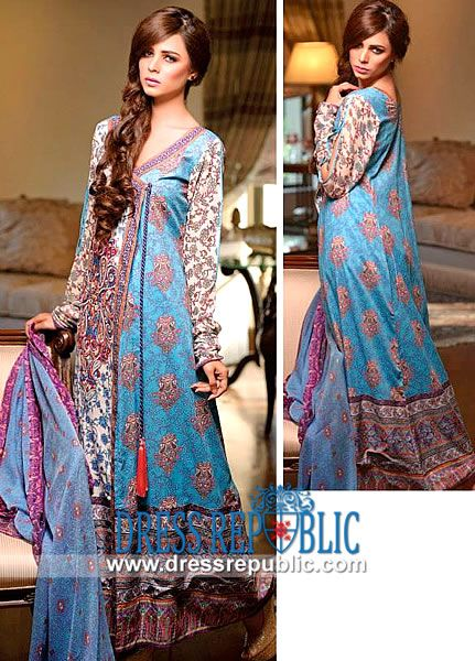 Charismatic Noir Designer Lawn Dresses in Pakistan 2014  By Ajwa Textiles. We Deliver Worldwide, especially in Milton, Vaughan and Markham, Ontario Canada. by www.dressrepublic.com