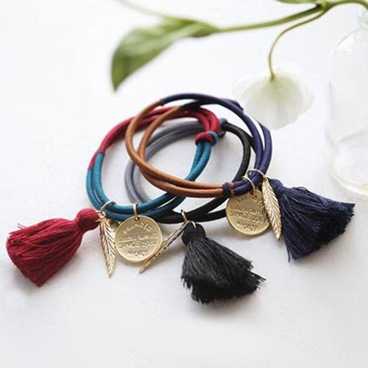 Amazing 1PC Fashion Mrs. Matal Charms Tassels Hairwear Mandarin Duck Tie Head Wear Accessory Hair Wear Hairclip Lovely Gift