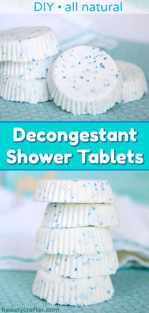 Natural Decongestant Shower Tablets Diy Shower Soother Shower Tablets Decongestant