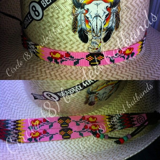 Hat Beaded Bands Purple