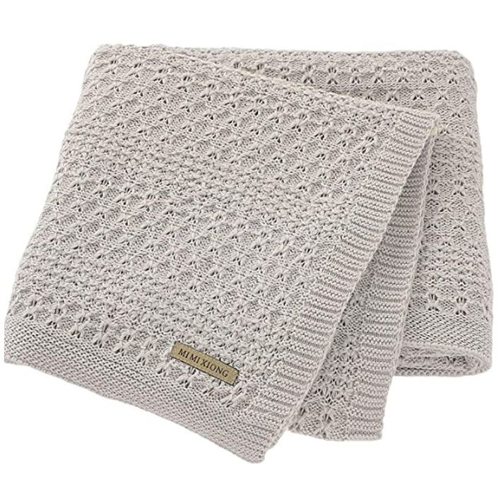 Mimixiong 100 Pure Cotton Extra Soft Cellular Baby Blankets For Newborn Baby Size 30 X 40 Inches Gr In 2020 Soft Baby Blankets Unisex Baby Clothes Baby Size