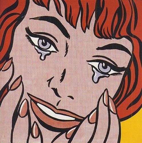 행복한 눈물 - 로이 리히텐슈타인  1964. 로이 리히텐슈타인 재단.  로이 리히텐슈타인은 앤디 워홀과 함께 미국의 팝아트를 대표합니다. 팝아트는 글자 그대로 대중문화와 미술이 결합하여 탄생한 새로운 미술 흐름을 말합니다. 이 작품을 보면 행복할 때 흘리는 눈물이 행복의 진정성을 나타내지 않나 생각하게 됩니다.
