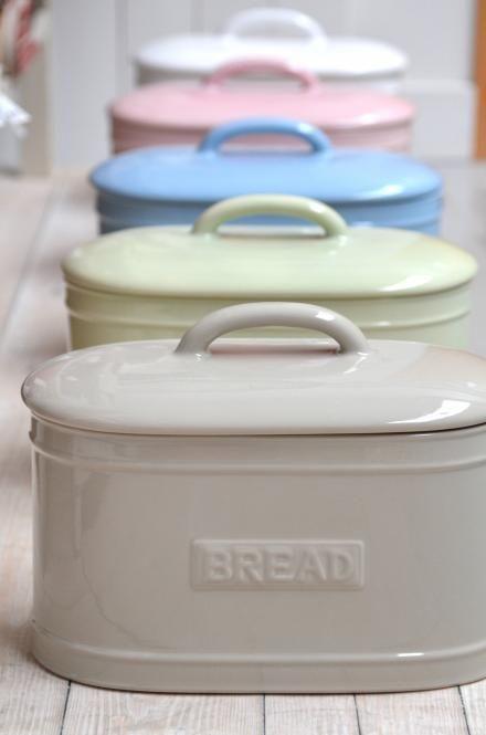 Details zu IB Laursen Keramik Brotkasten weiß Brotbox Brottopf shabby Vintage…
