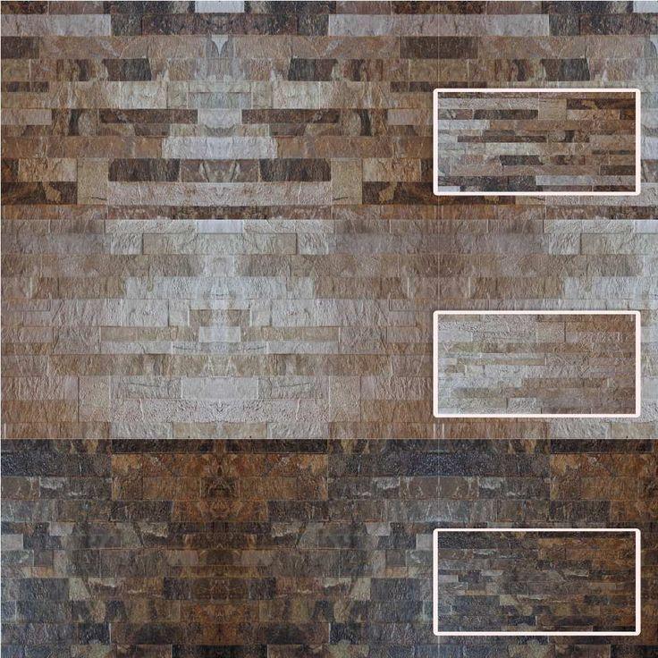 Resultado de imagen para paredes con combinacion revestimiento cerámico simil madera y simil piedra