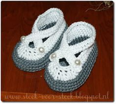 Tutorial babyshoes. Free in Dutch with link to English pattern