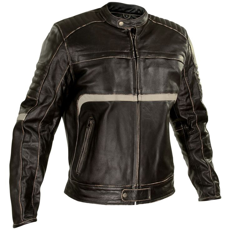 Leather jacket with armor