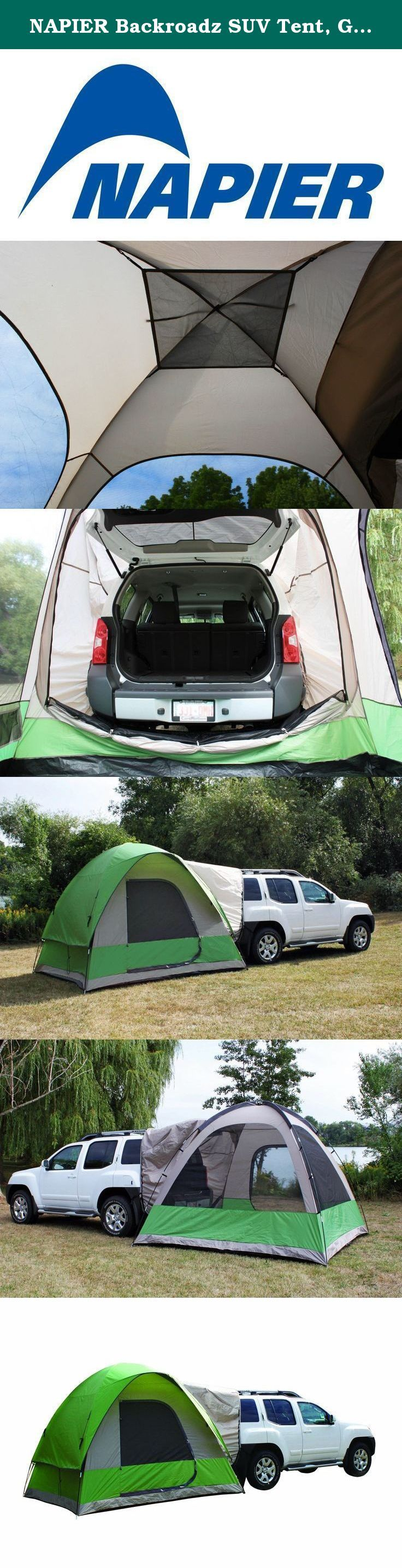 NAPIER Backroadz SUV Tent Green/Beige/Grey. The Backroadz SUV Tent quickly transforms your SUV or Minivan into a comfortable home away from home. & NAPIER Backroadz SUV Tent Green/Beige/Grey. The Backroadz SUV ...