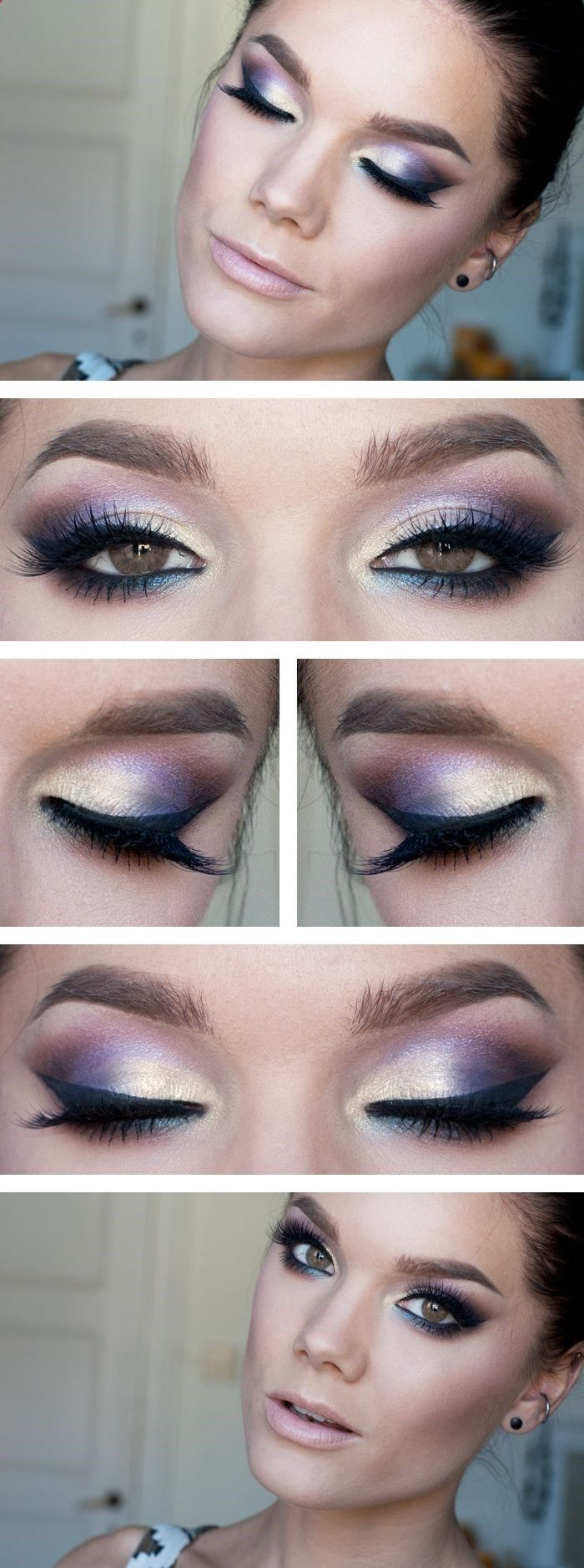 Makeup with light pink dress   Best images about intense beauty on Pinterest  Bright eye makeup
