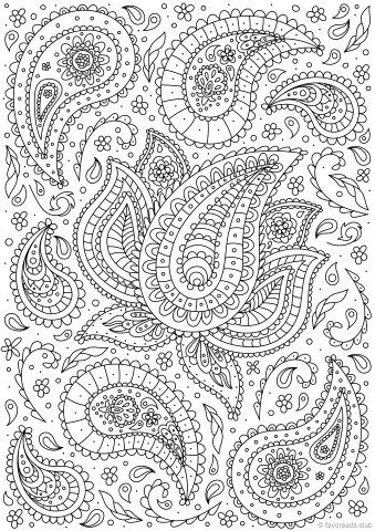 Best 25 Paisley coloring pages ideas on Pinterest
