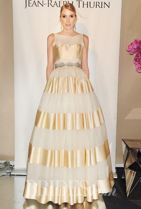 Jean Ralph Thurin Wedding Dresses Spring 2015 Bridal Runway Shows Brides.com | Wedding Dresses Style | Brides.com