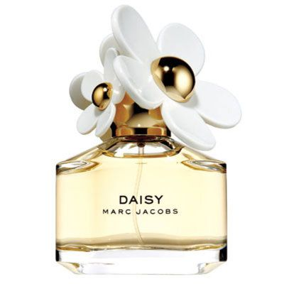 Fresh and feminine, Daisy is a playful bright and alluring scent. Daisy captivates with the luscious freshness of wild strawberry, then blooms with the modern vintage edge of velvety violet petals and finishes with a luminous blend of gardenia and jasmine. The white accords of birch and cedarwood add a bit of intensity.   A luxurious block of weighted, clear glass topped with a playful scattering of daisies that appear to bloom from the rounded gold cap 3.4 oz $78.00