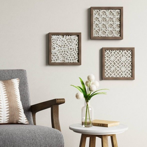 Set Of 3 10 X 10 Rice Paper Shadow Box Threshold Creative Wall Decor Rice Paper Frame Wall Decor