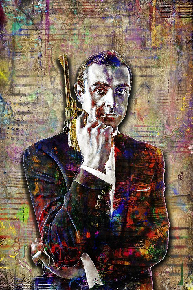 Sean Connery James Bond 007 Premium METAL Poster Art Print Plaque Gift