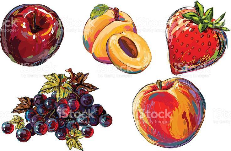 Свежие фрукты Сток Вектор Стоковая фотография
