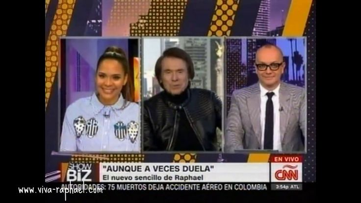 """Raphael en """"Showbiz"""" con Juan Carlos Arciniegas (EE.UU.). 29/11/2016"""