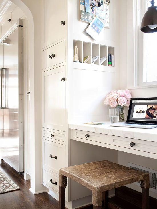 charming kitchen workspace. See more ideas: http://www.bhg.com/kitchen/storage/organization/new-kitchen-storage-ideas/