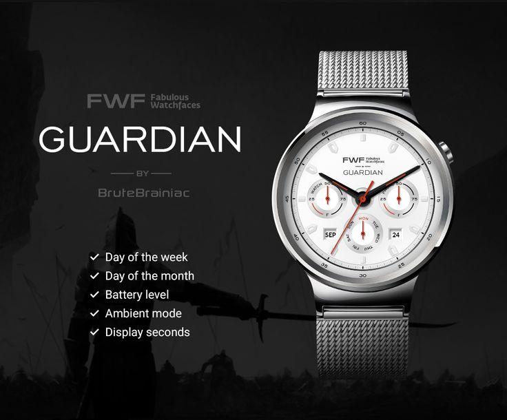 Guardian watch face by BruteBrainiac / #fwf #fabulouswatchfaces #androidwear #moto360 #huaweiwatch #tagheuer #huaweiwatch #smartwatch #watchface