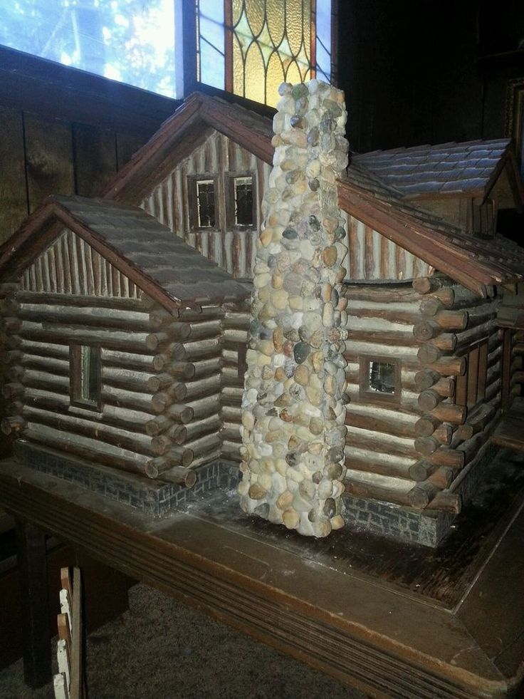 1926  Miniature Log Cabin -LETTER & PHOTO/MUSEUM QUALITY. Built by a Log Cabin Builder and is duplicate of home built on Walloon Lake, Michigan. by borineva, ebay
