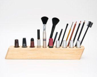 Best Makeup Organizer Countertop Ideas On Pinterest Wall - Cosmetic makeup organizer wood countertop organizer by lessandmore