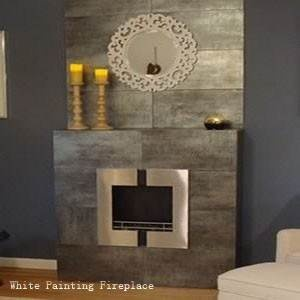 White Painting Bio-Ethanol Fireplace – In copper, it also comes in white and Stainless Steel.