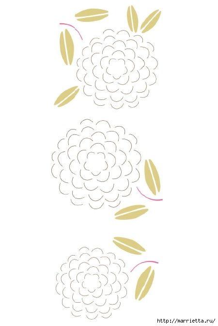 3D фонарики из бумаги. Шаблон (11) (450x672, 85Kb)