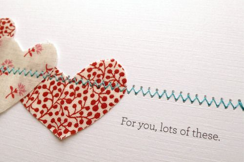 simplicity is effective, no? Look at this simple stitch... I see my 2011 Valentines taking shape.