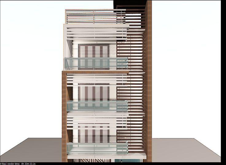 3D Model Modern Building Elevation - 3D Model