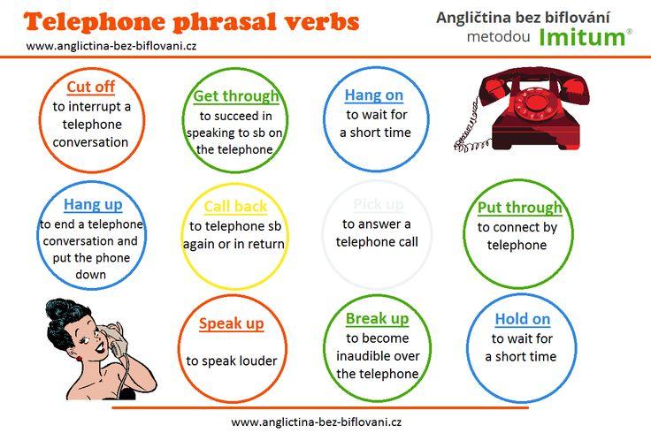 Důležitá anglická frázová slovesa používaná během telefonního rozhovoru.