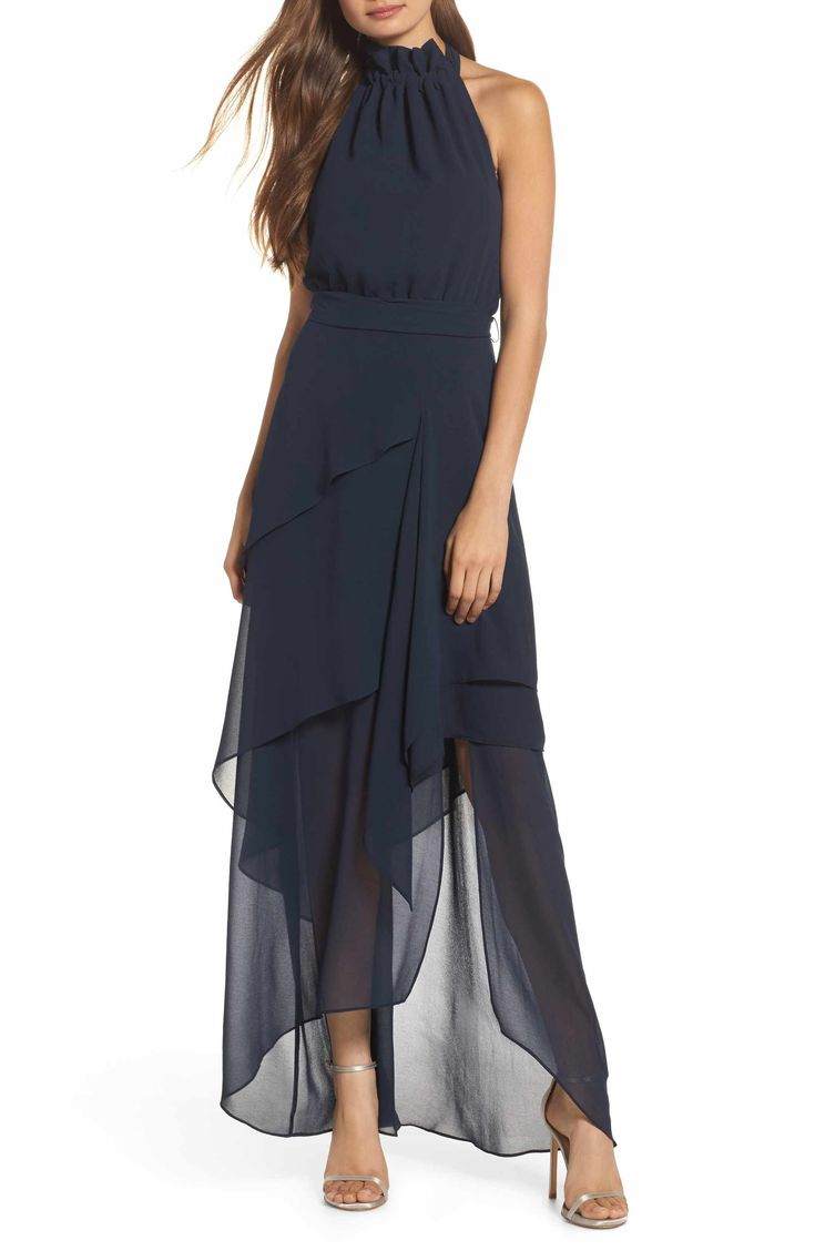(Love this dress) C/MEO Collective Allude Tiered Halter Maxi Dress