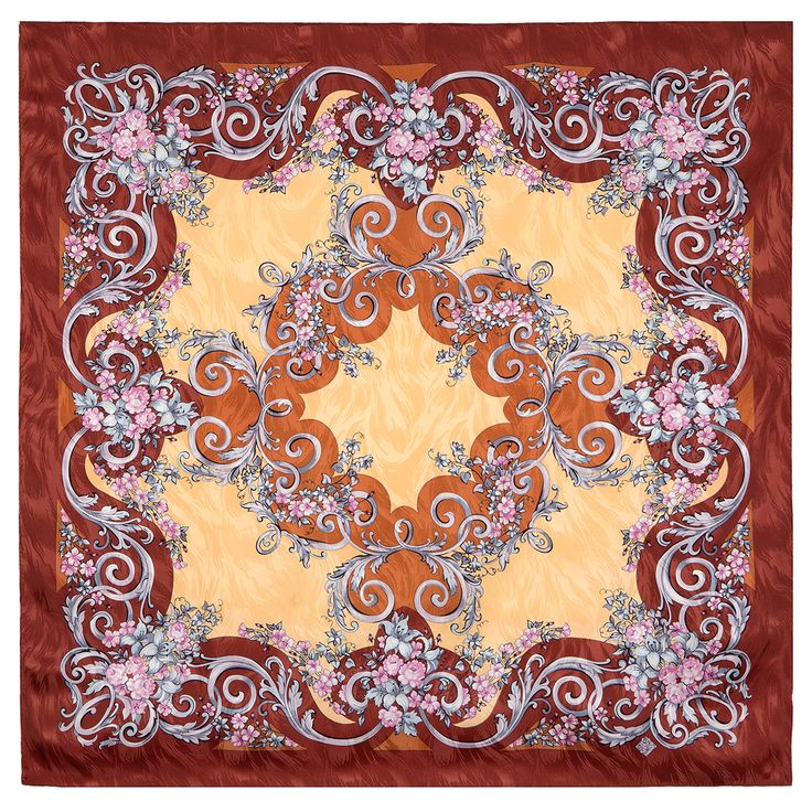 """#Russian #shawls and #scarves store. Russian scarf """"Coquette 832-16"""". #Traditional Russian clothing from #Pavlovo #Posad. FREE SHIPPING"""