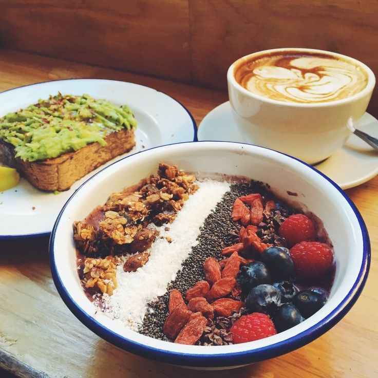 Avocado Toast, Acai Bowl, Almond Milk Latte from Two Hands NYC