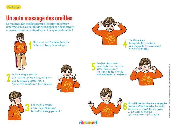 petit yoga de pomme d'api : auto-massage des oreilles
