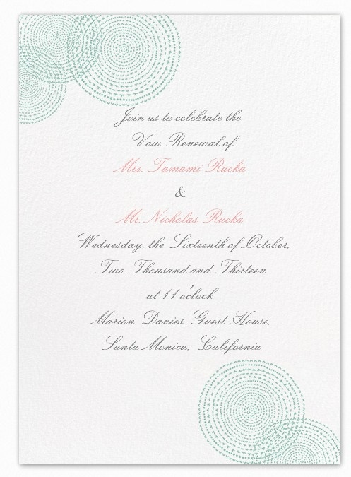 Mock-up of the vow renewal card. Is this good?
