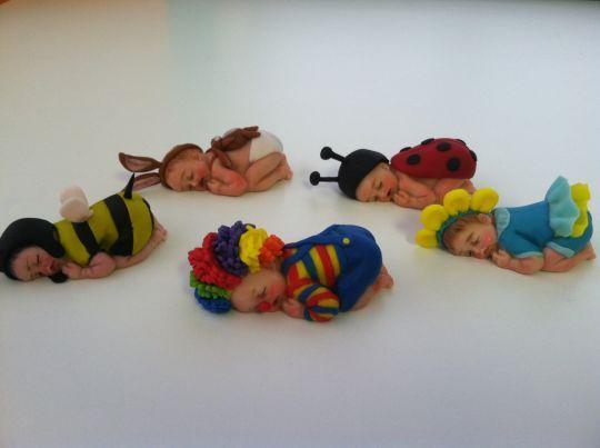 Sleeping baby figures
