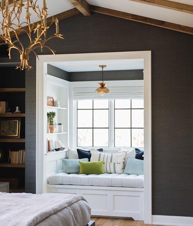 Cozy Reading Nook. #booknook #readingnook #windowseat