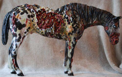 Custom Breyer Appaloosa Horse: ZOMBIE HORSE. I would LOVE to have a zombie custom!