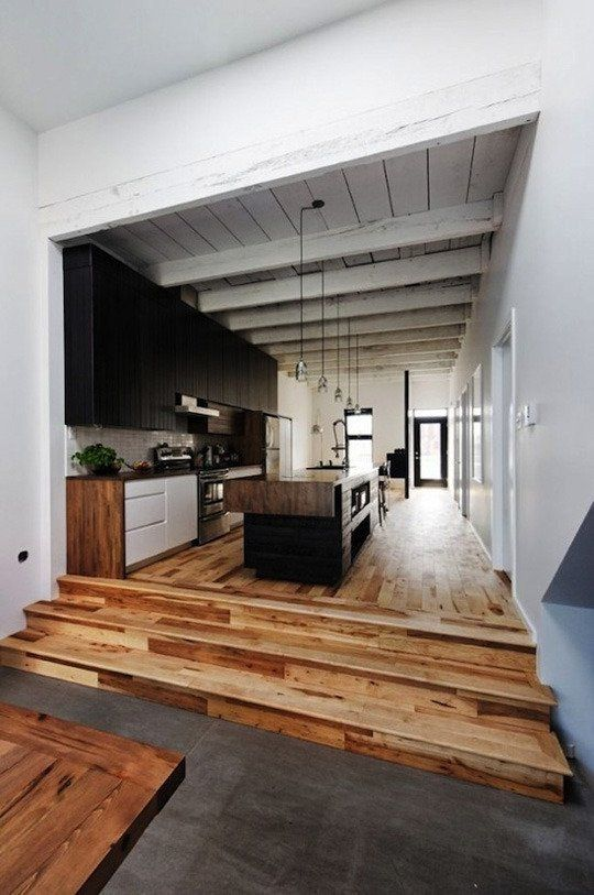 What about the reverse? Painted floor and cedar ceiling? Organic Modern | Apartment Therapy