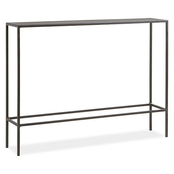 skinny console table diy narrow glass uk modern