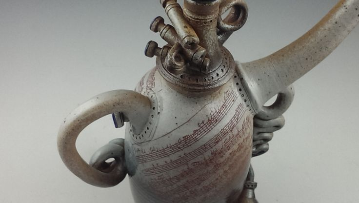"Detail of ""Gavotte"" from the ""Music in Me"" series of ceramic creations."